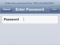 Enter your password, then tap Join