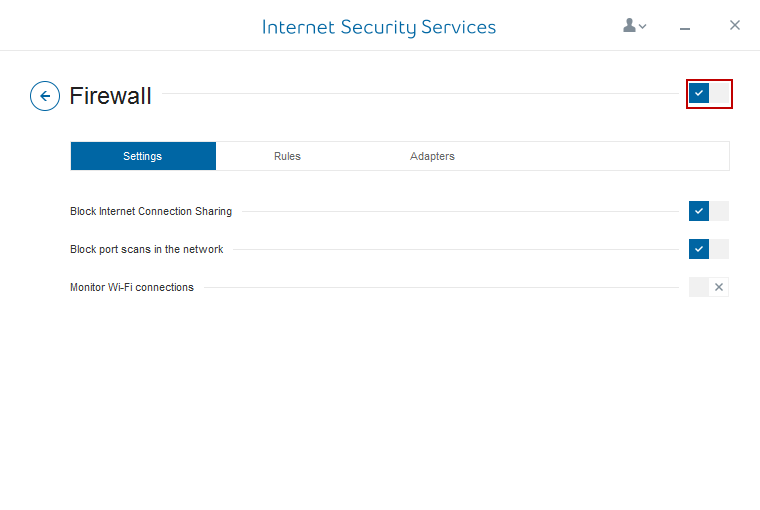 Internet Security Services Firewall Switch