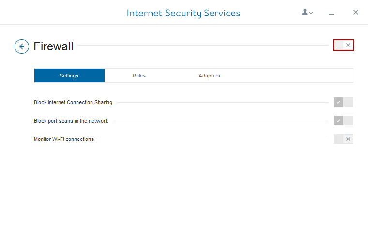 Internet Security Services Firewall on