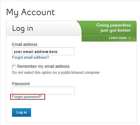 Forgot My Account password - Support - Bell Aliant