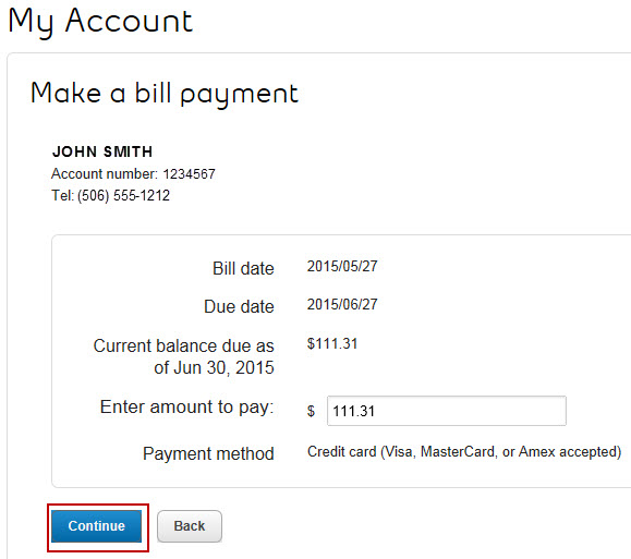 Image: Enter amount to pay