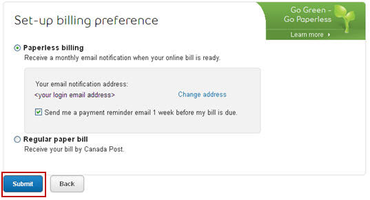 Image: Bell Alaint communications and billing preferences