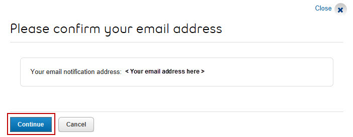 Image: Confirm email address