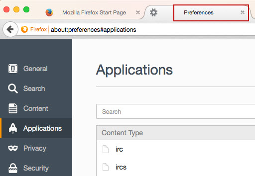 Image: Change Firefox settings