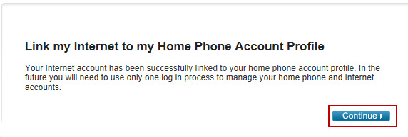 Image: Link your Internet account