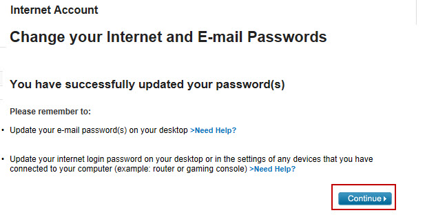 Image: Reset email password