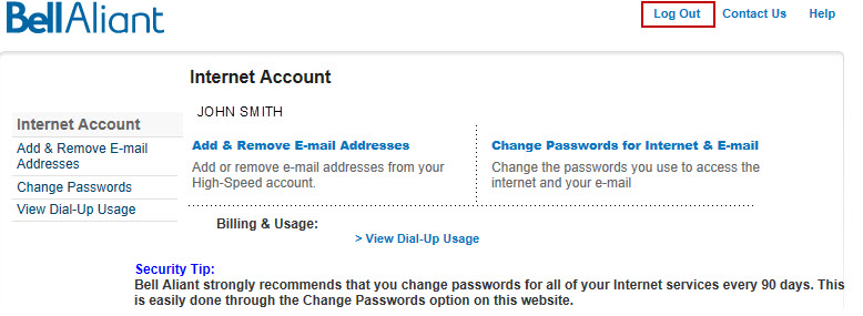 Image: Reset email password log out