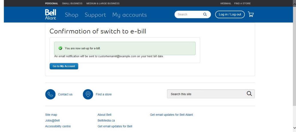 Image: Confirm billing preferences