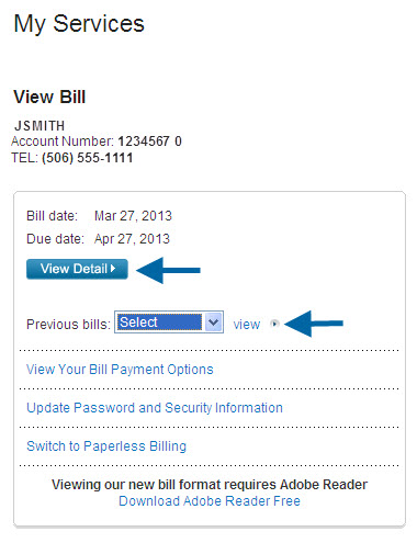 View my bill - Support - Small Business - Bell Aliant