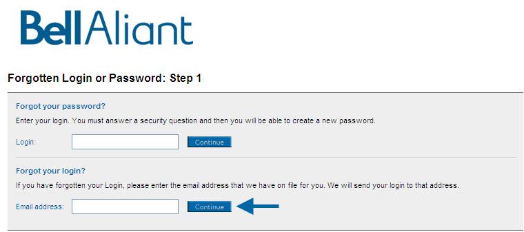 Forgot my login - Online Billing for Business - Support ...