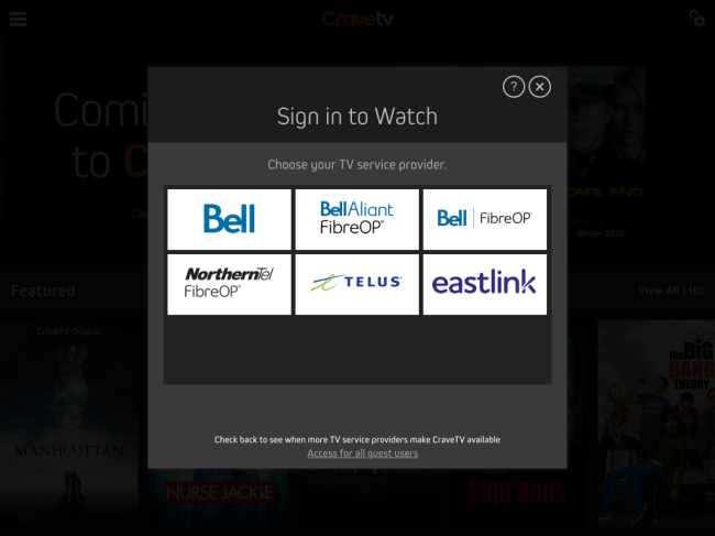 Watch Crave on my Apple or Android - Support - Bell Aliant