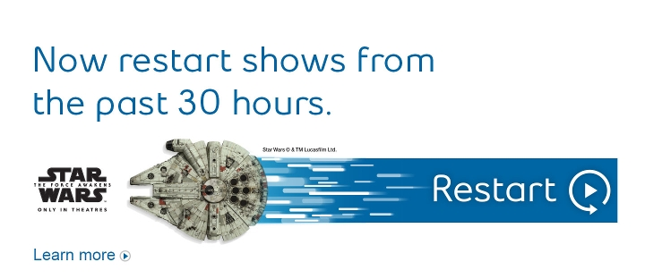 New restart shows from the past 30 hours.  Learn more.