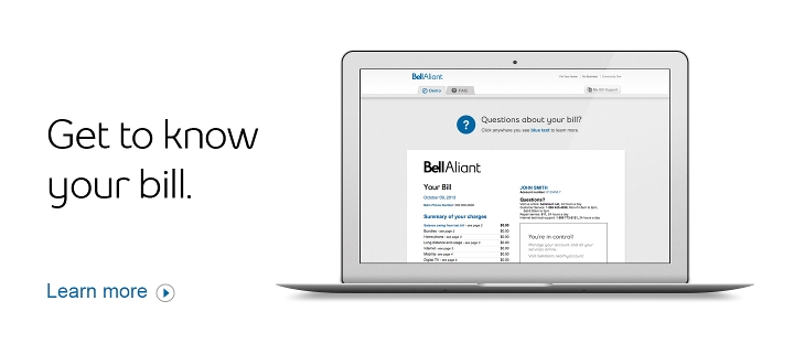 Get to know your bill.  Learn more.