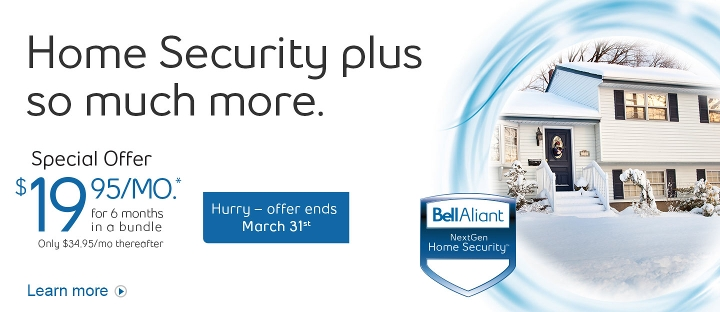 Home Security plus so much more.  Packages start as low as $19.95/mo. for 6 months in a bundle.  Hurry - offer ends March 31st.  Learn more.