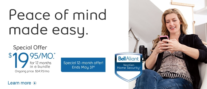 Peace of mind made easy.  Special Offer $19.95/mo. for 12 months in a bundle.  Hurry - offer ends May 31st.  Learn more.