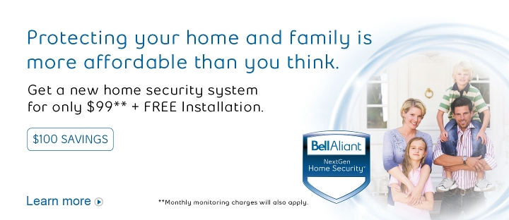 Protecting your home and family is more affordable than you think.  Get a new home security system for only $99** + FREE Installation.  Learn more.