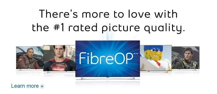 There's more to love with the #1 rated picture quality.  FibreOP TV.  Learn more.
